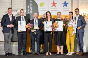 Gruppenfoto Preisverleihung Franchiseaward 2019 Gründer